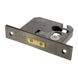 "Atlantic Euro Deadlock [CE] 3"" 76mm - Antique Brass - ALKDEADE25AB - Choice Handles"