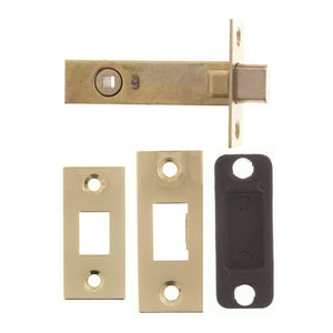 "Atlantic Tubular Deadbolt 3"" 76mm -  Polished Brass - ADB3PB - Choice Handles"