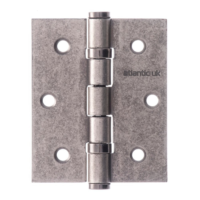 "Atlantic Ball Bearing Hinges 3"" x 2.5"" x 2.5mm - Distressed Silver - A2HB32525DS - Pair"