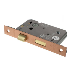 "Atlantic Bathroom Lock [CE] 3""  76mm - Urban Satin Copper - ALKBATH3USC - Choice Handles"