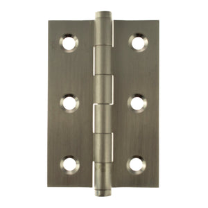 "Atlantic Butt Hinges 3"" x 2"" x 2.2mm inc Screws - Satin Nickel - ABH3222SN - Pair - Choice Handles"