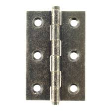 "Atlantic Butt Hinges 3"" x 2"" x 2.2mm inc Screws - Distressed Silver - ABH3222DS - Pair - Choice Handles"