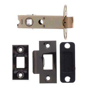 "Atlantic Heavy Duty Bolt Through Tubular Latch  3"" 76mm - Black Nickel - AL3BN - Choice Handles"