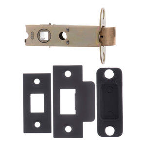 "Atlantic Heavy Duty Bolt Through Tubular Latch  3"" 76mm - Matt Black - AL3MB - Choice Handles"