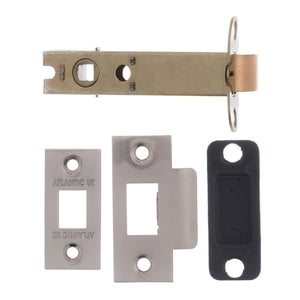 "Atlantic Heavy Duty Bolt Through Tubular Latch 4"" 102mm - Satin Nickel - AL4SN - Choice Handles"