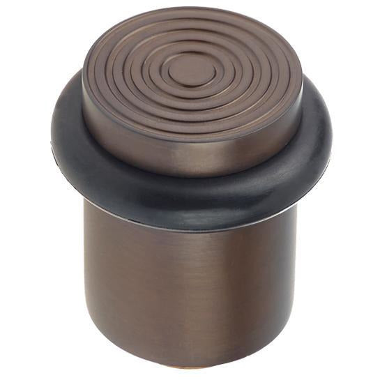 Burlington - Reeded Top Floor Mounted Doorstop - Dark bronze - BUR963DB