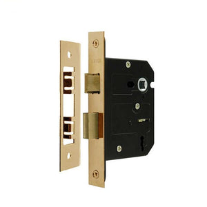 Frelan -  3 Lever Contract Sashlock 76mm - JL173EB - Electro Brass - Choice Handles