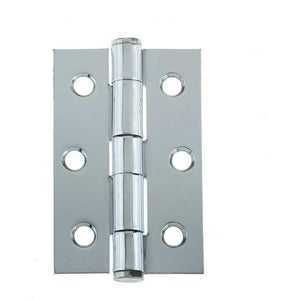 Frelan - Button Tip Hinge Grade 7 (76x50x2mm) - Polished Chrome - J452BT-PC - (Pair) - Choice Handles
