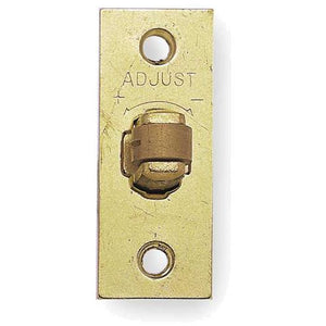 Frelan - Adjustable Rollerbolt Catch With Brass Roller - Polished Brass - J8072PB - Choice Handles