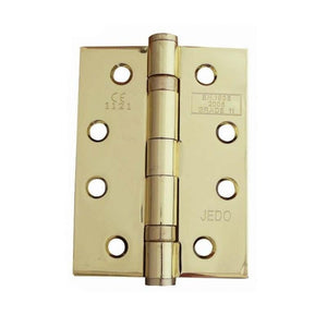 Frelan -  Ball Bearing Hinges 102 X 76 X 3mm Grade 11 Fire Rated Stainless Steel  - Electro Brass - J8500EB(Pair) - Choice Handles