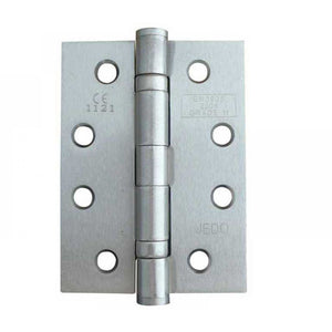 Frelan -  Ball Bearing Hinges 102 X 76 X 3mm Grade 11 Fire Rated Stainless Steel  - Satin Chrome - J8500SC (Pair) - Choice Handles