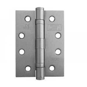 Frelan -  Ball Bearing Hinges 102 X 76 X 3mm Grade 11 Fire Rated Stainless Steel  - Satin Nickel - J8500SN (Pair) - Choice Handles