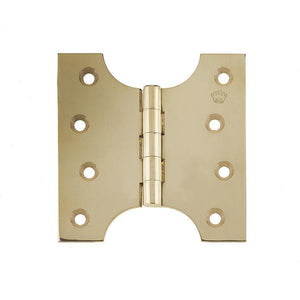 102 x 150 x 4mm Parliament Projection Hinges - Polished Brass - J9009B6PB - Choice Handles