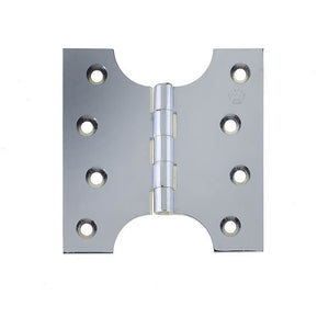 102 x 124 x 4mm Parliament Projection Hinges - Polished Chrome - J9009B5PC - Choice Handles