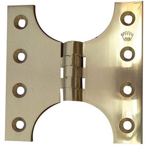 102 x 124 x 4mm Crown Parliament Projection Hinges - Polished Brass - J9009C5PB - Choice Handles