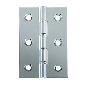 Frelan - Double Phosphor Bronze Washered Hinge, 76 x 50 x 2mm - Polished Chrome - J9121BPC - (Pair) - Choice Handles