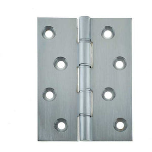 Frelan - Double Phosphor Bronze Washered Hinge, 102 x 76 x 4mm - Satin Chrome - J9312SC- (Pair) - Choice Handles