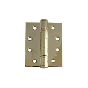 Frelan -  Ball Bearing Hinges 102 X 76 X 3mm Grade 13 Fire Rated Stainless Steel  - Electro Brass - J9500EB (Pair) - Choice Handles