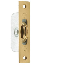 Frelan - Sash Window Axle Pulley With Brass Roller - Polished Brass - J993BPC - Choice Handles
