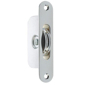 Frelan - Sash Window Radius Axle Pulley With Brass Roller - Polished Chrome - J996PC - Choice Handles