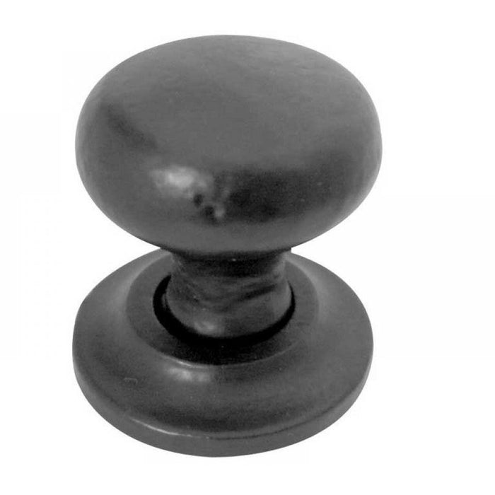 Frelan - Iron Round Cupboard Knob 32mm Dia - Black Antique - JAB86