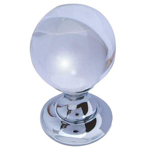 Frelan - Plain Ball Glass Mortice Door Knob - Satin Chrome - JH1150SC - Choice Handles