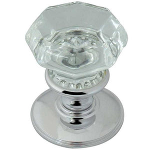 Frelan - Octagonal Mortice Door Knob  - Polished Chrome - JH7020PC - Choice Handles