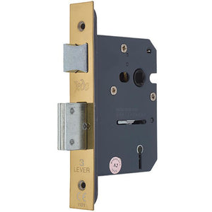Frelan - 3 Lever Sashlock 65mm - JL1090PVD - PVD Polished Brass - Choice Handles