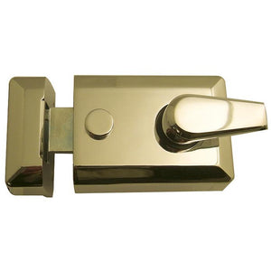 Frelan - Standard Stile Nightlatch - Polished Brass - JL5021PB - Choice Handles