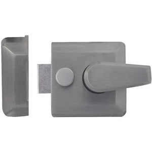 Frelan - Narrow Stile Nightlatch - Satin Chrome - JL5031SC - Choice Handles