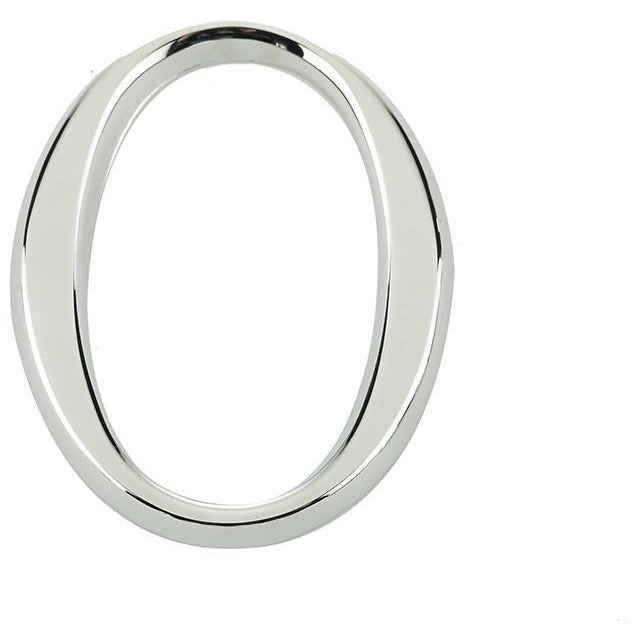 "Jedo 60mm Polished Chrome Pinfix Numeral 0"" - JPC-0"
