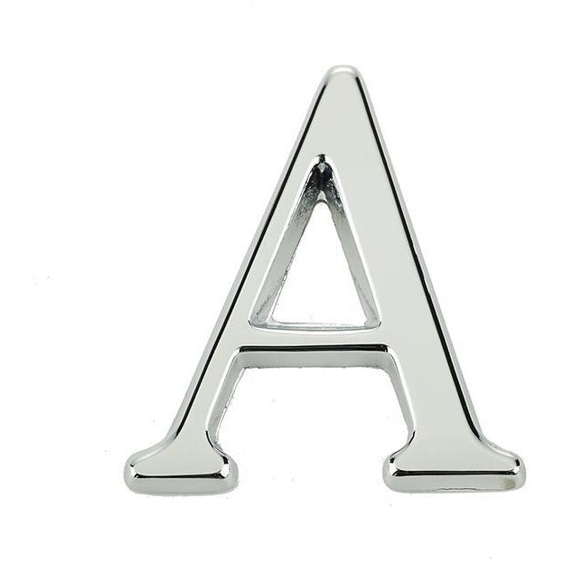 "Jedo 50mm Polished Chrome Pinfix Letter A"" - JP-A"