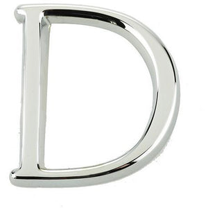 "Jedo 50mm Polished Chrome Pinfix Letter D"" - JPC-D - Choice Handles"