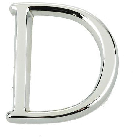 "Jedo 50mm Polished Chrome Pinfix Letter D"" - JPC-D"