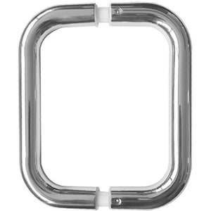 D Shaped Pull Handle 225mm x 22mm dia Back To Back Fixing - Polished Stainless Steel - JPS123A - Choice Handles