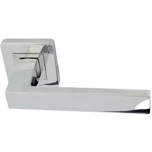 Frelan - Sirius Door Handles On Square Rose - Polished Stainless Steel - JPS280 - Choice Handles