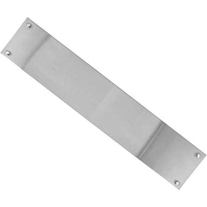 Frelan - Plain Finger Plate 300 x 75mm - Polished Stainless Steel - JPS80 - Choice Handles