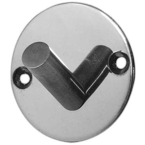 Frelan - Round Single Robe Hook - Polished Stainless Steel - JPS902A - Choice Handles