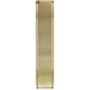 Frelan - Reeded Finger Plate 305mm x 75mm - Polished Brass - JR5PB - Choice Handles