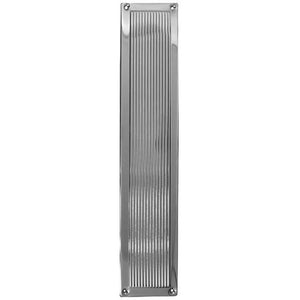 Frelan - Reeded Finger Plate 305mm x 75mm - Polished Chrome - JR5PC - Choice Handles