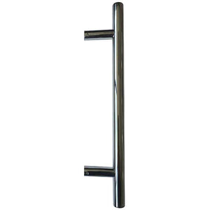 Guardsman Pull Handle 400mmx19mm 300mm centres  Bolt Through Fixing - Polished Stainless Steel - JPS219B - Choice Handles