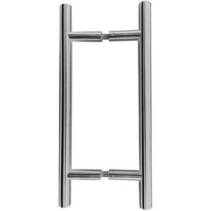 Frelan - Guardsman 19mm Pull Handles 400mm x 300mm, Back To Back Fixing - Satin Stainless Steel - JSS220B - Choice Handles