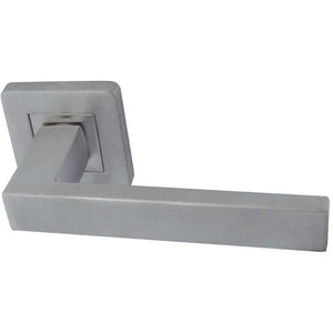 Frelan - Sirius Door Handles On Square Rose - Satin Stainless Steel - JSS280 - Choice Handles