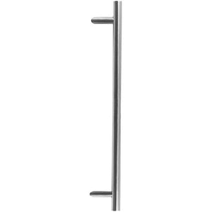 Frelan - Cranked Pull Handle 1800mm - Satin Stainless Steel - JSS519C - Choice Handles