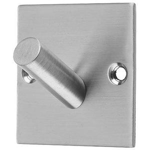 Frelan - Square Single Robe Hook - Satin Stainless Steel - JSS901A - Choice Handles