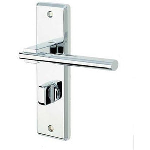 Frelan - Delta Door Handles On Backplate - Bathroom - Polished Chrome - JV3023PC - Choice Handles
