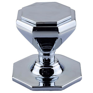 Frelan - Octagonal Centre Door Knob (70mm Diameter) - Polished Chrome - JV33PC - Choice Handles
