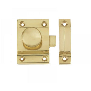 Frelan - Cupboard Door Catch 57 x 41mm - Polished Brass - JV360PB - Choice Handles