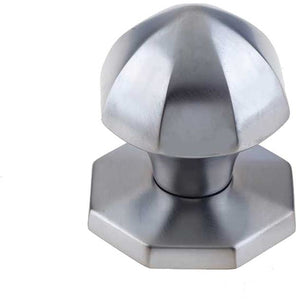 Frelan - Octagonal Centre Door Knob (60mm Diameter) - Satin Chrome - JV49SC - Choice Handles