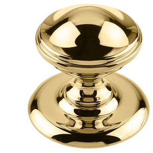 Frelan - Centre Door Knob (66mm Diameter) - Polished Brass - JV59PB - Choice Handles